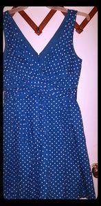 Nine West retro polka dot blue dress